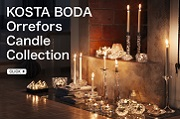 orrefors kosta boda candle collection