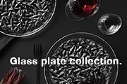 Glass plate collection.